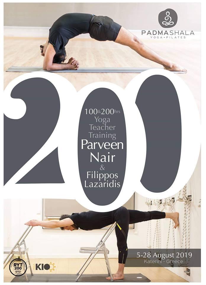 100-200 Yoga Teacher Training with Parveen Nair and Filippos Lazaridis